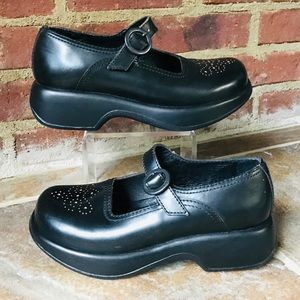 Dansko Black Professional Mary Jane Clog Mule Sz 6